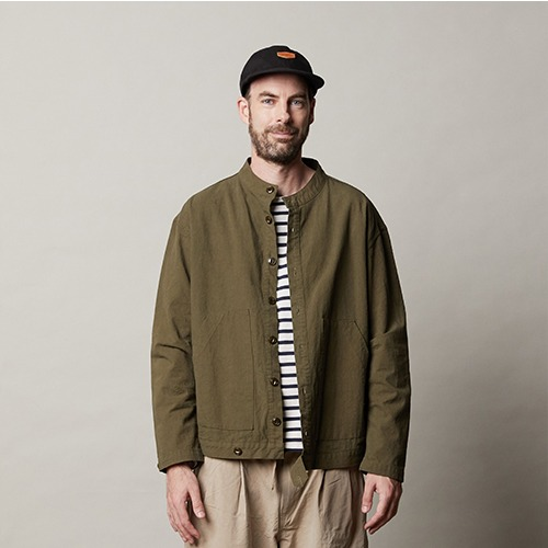 [캐피디자인] COLLARLESS JACKET