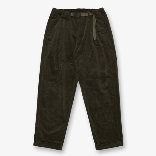 [GRAMICCI] CORDUROY TUCK TAPERED PANTS OLIVE
