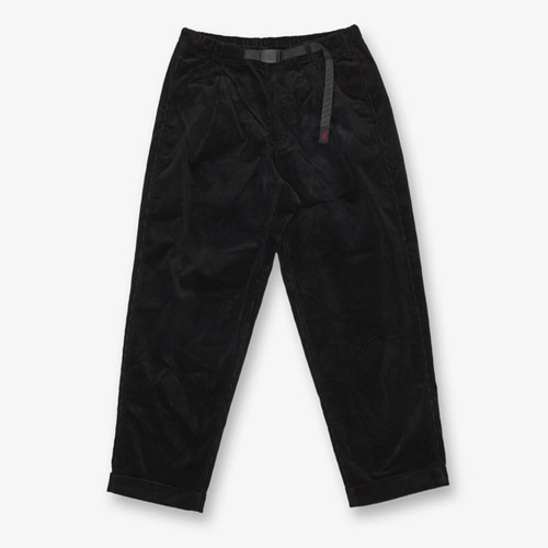 [GRAMICCI] CORDUROY TUCK TAPERED PANTS BLACK