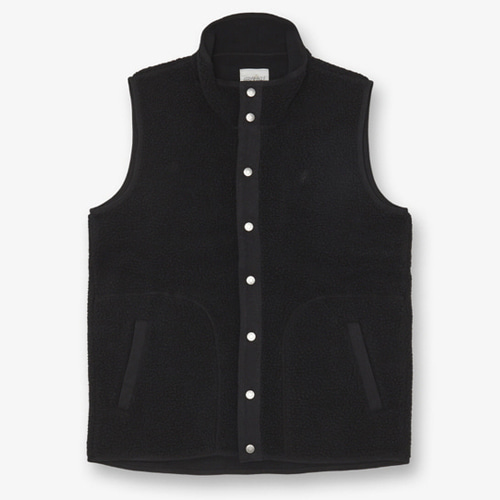 [GRAMICCI] BOA FLEECE VEST BLACK