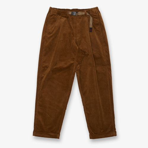 [GRAMICCI] CORDUROY TUCK TAPERED PANTS CAMEL