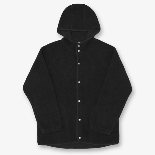[GRAMICCI] BOA FLEECE HOODED COACHES JACKET BLACK