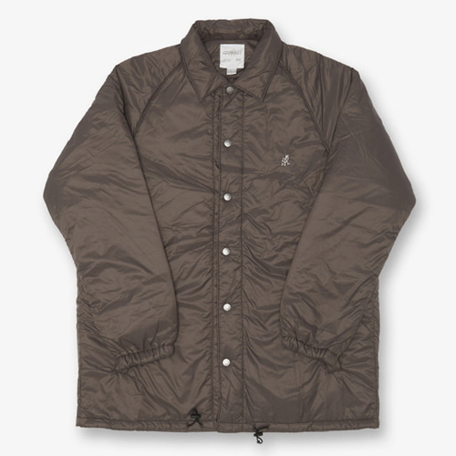 [GRAMICCI] PADDING COACHES JACKET DARK BROWN